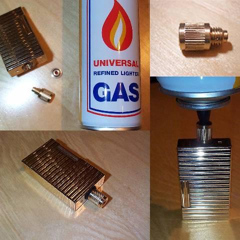 Adaptateur recharge gaz pour vrai briquet dupont ebay - Recharge gaz briquet ...